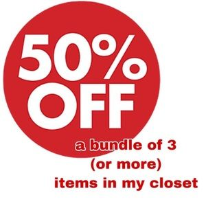 50% off all bundles of 3 or more items!